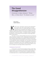 The grand misapprehension