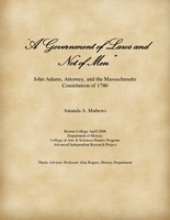 """A Government of Laws and Not of Men"""