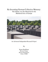 Re-Inventing German Collective Memory