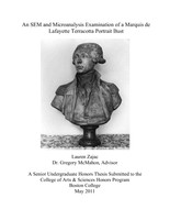 An SEM and Microanalysis Examination of a Marquis de Lafayette Terracotta Portrait Bust