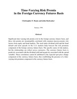 Time-Varying Risk Premia in the Foreign Currency Futures Basis