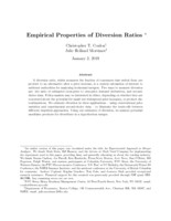 Empirical Properties of Diversion Ratios