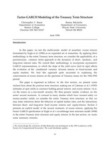 Modeling Returns on the Term Structure of Treasury Interest Rates
