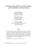 Exchange Rate Effects on the Volume and Variability of Trade Flows