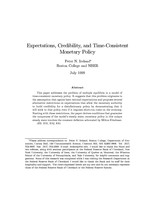 Expectations, Credibility, and Time-Consistent Monetary Policy