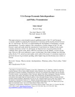 U.S.-Europe Economic Interdependence and Policy Transmission
