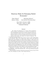 Monetary Rules for Emerging Market Economies