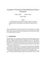 Asymptotic Trimming for Bounded Density Plug-in Estimators