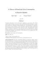 A Theory of Fraud and Over-Consumption in Experts Markets