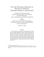 On the Economic Meaning of Machina's Fr⁄chet Differentiability Assumption
