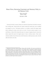 House prices, borrowing constraints and monetary policy in the business cycle