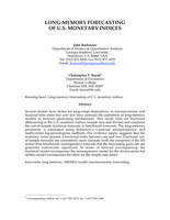 Long-Memory Forecasting of U.S. Monetary Indices
