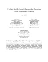 Productivity Shocks and Consumption Smoothing in the International Economy