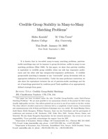 Credible Group-Stability in Many-to-Many Matching Problems