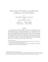 Interactions of Commitment and Discretion in Monetary and Fiscal Policies