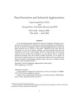 Fiscal Incentives and Industrial Agglomeration