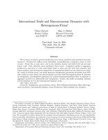 International Trade and Macroeconomic Dynamics with Heterogeneous Firms