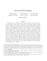 Pairwise Kidney Exchange