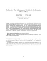 An Extended Class of Instrumental Variables for the Estimation of Causal Effects