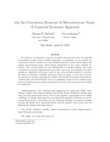 On the Correlation Structure of Microstructure Noise