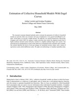 Estimation of Collective Household Models With Engel Curves