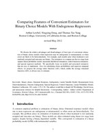 Comparing Features of Convenient Estimators for Binary Choice Models With Endogenous Regressors