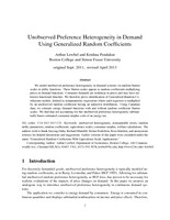 Unobserved Preference Heterogeneity in Demand Using Generalized Random Coefficients