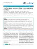 The functional spectrum of low-frequency coding variation