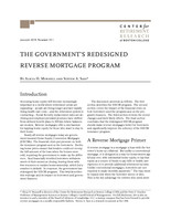 The government's redesigned reverse mortgage program
