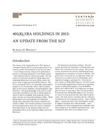 401(k)/IRA holdings in 2013