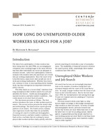 How long do unemployed older workers search for a job?