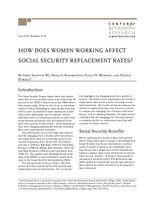 How does women working affect social security replacement rates?