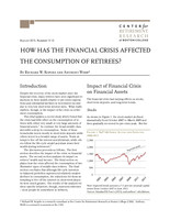 How has the financial crisis affected the consumption of retirees?