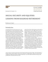 Social security and equities