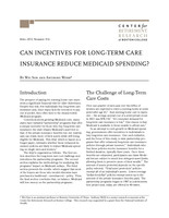 Can incentives for long-term care insurance reduce medicaid spending?
