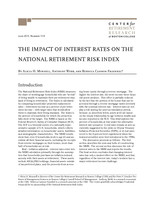 The impact of interest rates on the National Retirement Risk Index