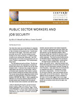 Public sector workers and job security