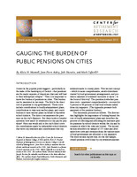 Gauging the burden of public pensions on cities