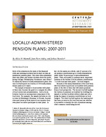 Locally-administered pension plans