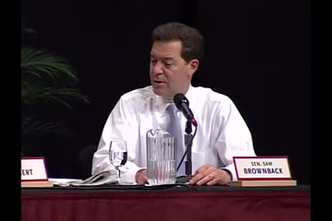 Democrat Christopher Dodd and Republican Sam Brownback