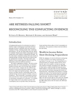 Are retirees falling short?