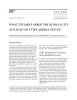 What explains variation in disability application rates across states?