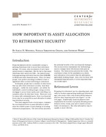 How important is asset allocation to retirement security?