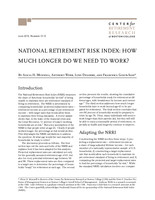 National Retirement Risk Index