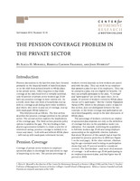 The pension coverage problem in the private sector