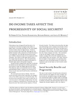 Do income taxes affect the progressivity of Social Security?