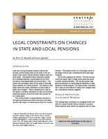 Legal constraints on changes in state and local pensions