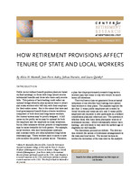 How retirement provisions affect tenure of state and local workers