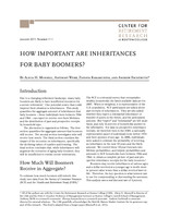 How important are inheritances for baby boomers?