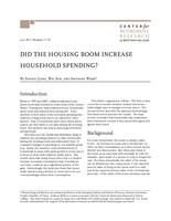Did the housing boom increase household spending?